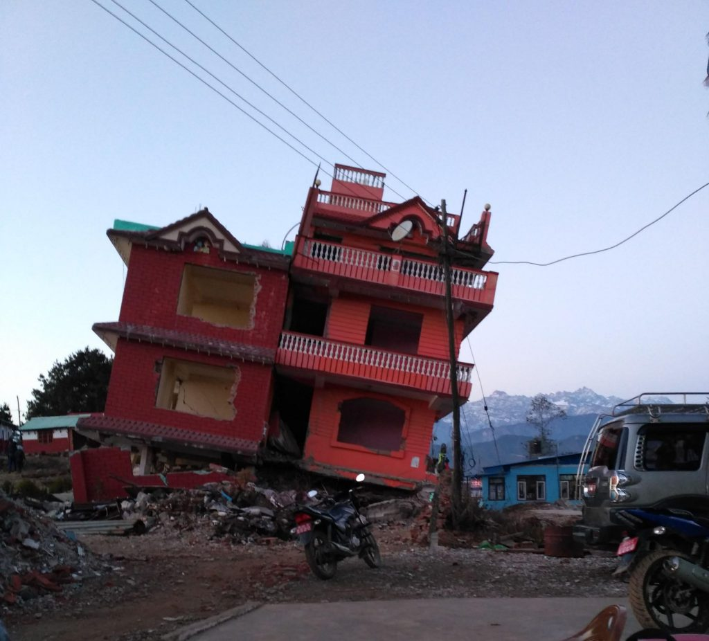 Chisapani after earthquake