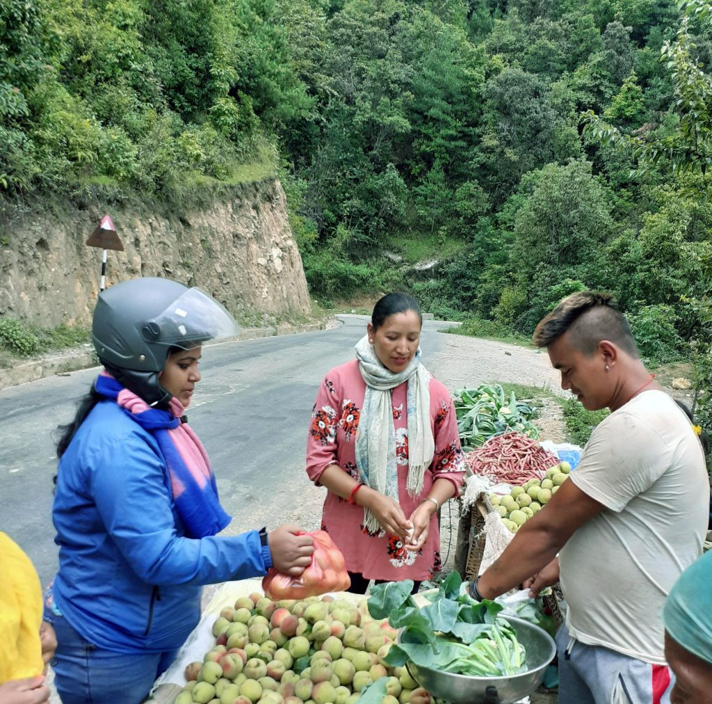 Roadside market way to Kulekhani