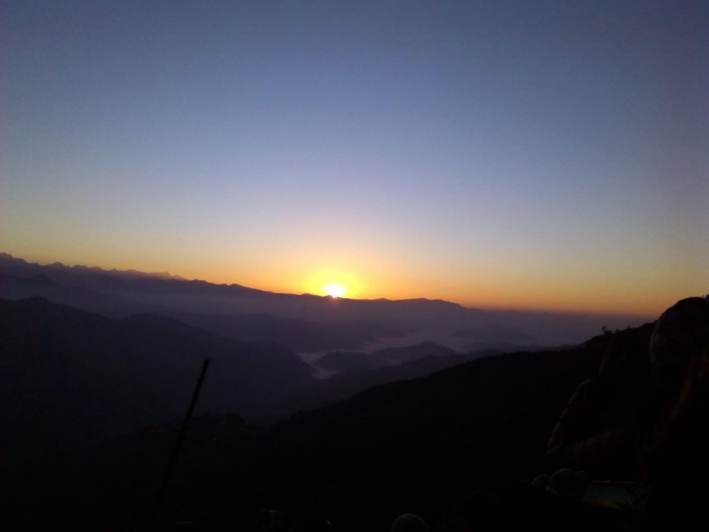 Sunrise view from Chisapani