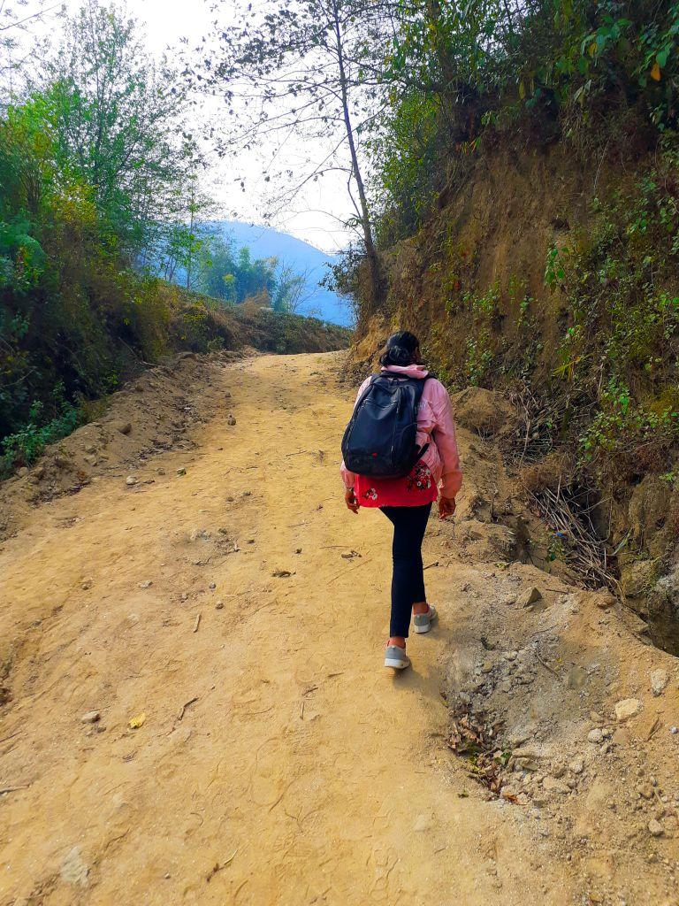 Walking trial to tea garden